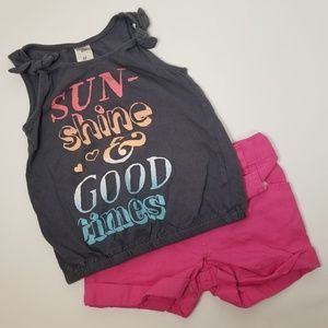 Girls Tank Top and Shorts Outfit